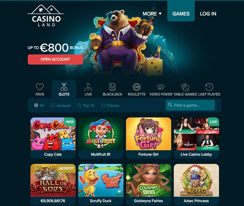 Casinoland screenshot
